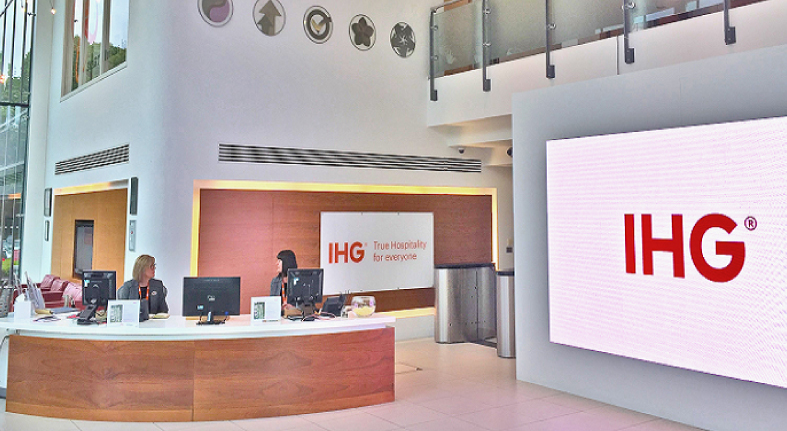 IHG published the provisional results of the first half of